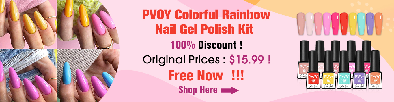 PVOY Candy Color Gel Nail Polish Set Colorful Rainbow Nail Gel Polish Kit Valentine's Day 10 Colors Soak Off UV LED Gel Manicure Set for Spring Summer 7.3ml