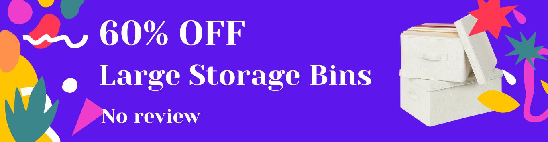 Large Storage Bins with Lids