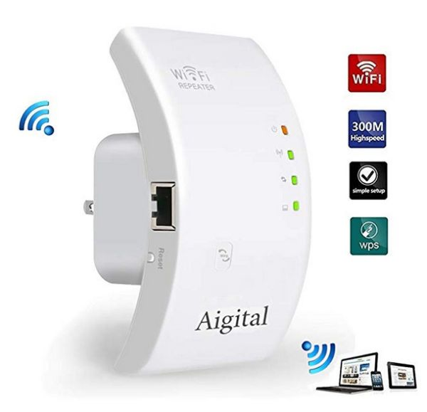 Aigital WiFi Range Extender,300Mbps WiFi Extender Mini ...