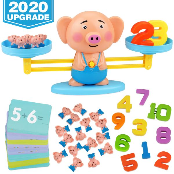 Balance Cool Math Game for Toddlers Ages 3-5, Piggy ...