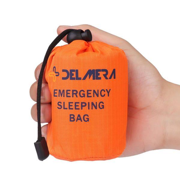 2pcs Emergency Survival Bivvy Sleeping Bag Lightweight Blanket Outdoor Orange UK