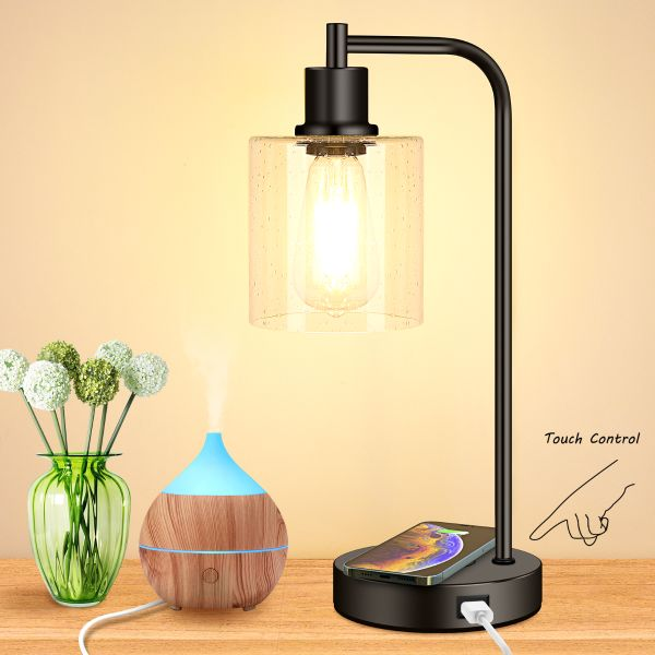 wireless charging industrial table lamp 3way touch